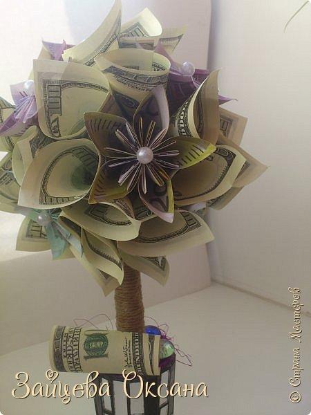 Приветствую Вас, дорогие соседи. Благодаря многим вдохновителям нашей Страны, в моей творческой мастерской появились такие вот деревья. А из-за политической ситуации в мире и слоган к ним нашелся. Так что, Наш ответ на санкции или Вот что мы делаем с их купюрами. Деньги, конечно, игрушечные)) фото 1