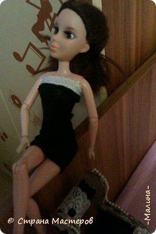однажды вечером...когда делать было нечего... я сшила для моей первой шарнирной куколки Лины платье получилось оно такое утончённое,прямо слов нет... фото 5