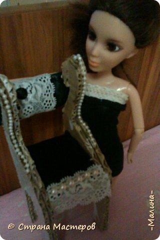 однажды вечером...когда делать было нечего... я сшила для моей первой шарнирной куколки Лины платье получилось оно такое утончённое,прямо слов нет... фото 6