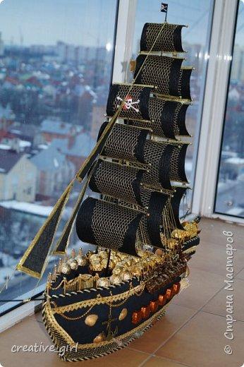 Представляю вашему внимаю мой второй пиратский корабль из конфет)  фото 2