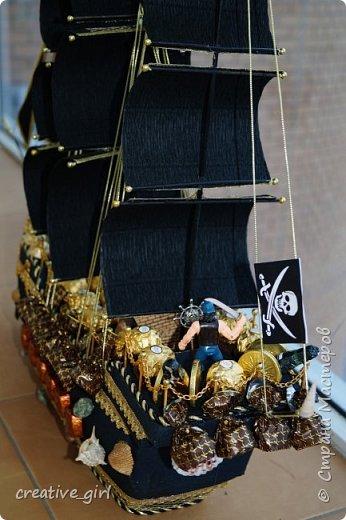 Представляю вашему внимаю мой второй пиратский корабль из конфет)  фото 4