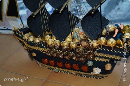 Представляю вашему внимаю мой второй пиратский корабль из конфет)  фото 3