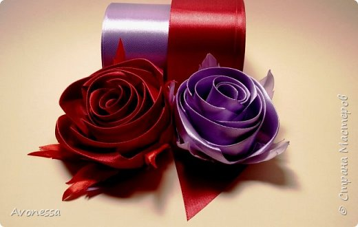 Цветы из лент: роза декоративная.МК