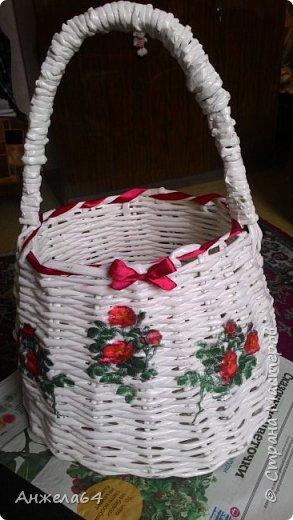 Мой первый опыт в плетении из газет