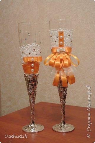 Оранжевый свадебный набор фото 8