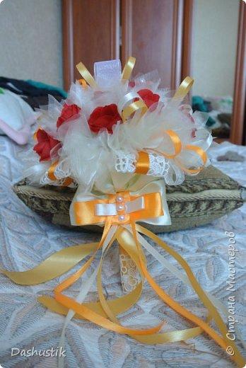 Оранжевый свадебный набор фото 5