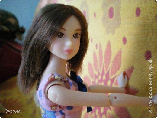 Привет всем! Я с новенькой. Назвали Китти. Очень милая девочка с человеческими пропорциями, поэтому шить на неё одно удовольствие. Из детского флиса сшила Китти такую пижамку. фото 6
