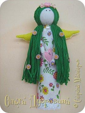 Давно хотела сделать куклу с зелёными волосами. Сделала))) фото 3
