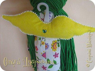 Давно хотела сделать куклу с зелёными волосами. Сделала))) фото 4