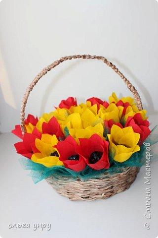 Корзина с цветами фото 1