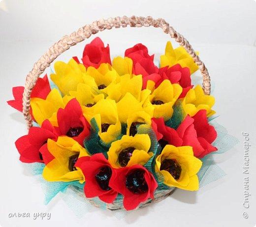 Корзина с цветами фото 2