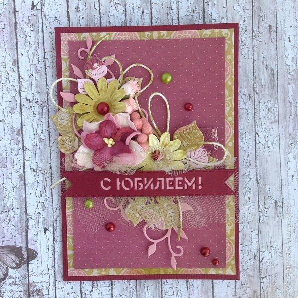 """В последнее время полюбила Fleur Базовую шебби-шик:), но тут кусочки еще из коллекции """"наша свадьба"""", лист """"в саду"""" Вот пара конвертов из неё, красный и сиреневый. фото 13"""