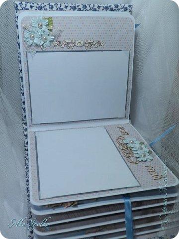 Вот такой вот получился альбомчик. Обложка из плотного картона, 2мм.  Обтянута плотным хлопком, а под ним синтепон.  фото 6