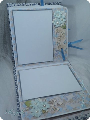 Вот такой вот получился альбомчик. Обложка из плотного картона, 2мм.  Обтянута плотным хлопком, а под ним синтепон.  фото 11