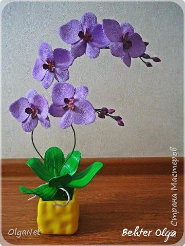 Всем здравствуйте! В этом году решила своих близких поздравить рукодельными подарочками. Очень боялась не успеть сделать все орхидеи  к 8 марта, но удача мне сопутствовала)))) Итак, на ваше внимание выношу свои работы! фото 6