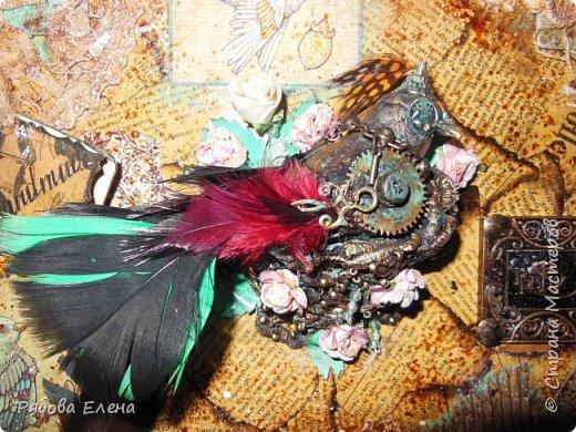 Здравствуйте Вам! Весна,птицы устраивают гнёзда.... И у меня птичка в гнезде .... Друзья,прошу прощения за качество фото( спешила) Итак ,всё как всегда : ключница из хлама фото 2