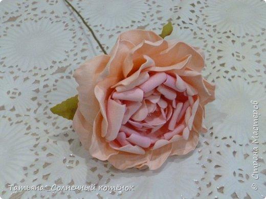 Цветы из фоамирана: ранункулюс, пионовидная роза, пионы фото 3