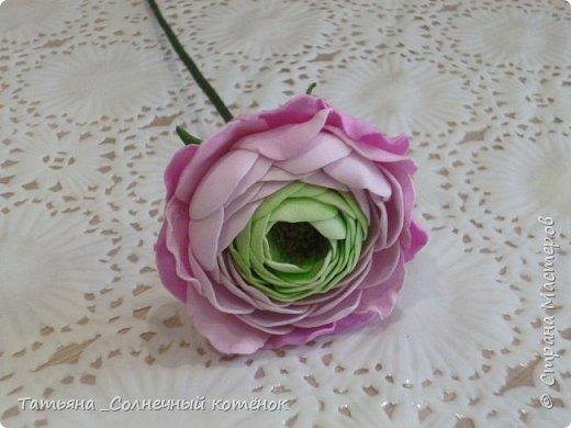 Цветы из фоамирана: ранункулюс, пионовидная роза, пионы фото 2
