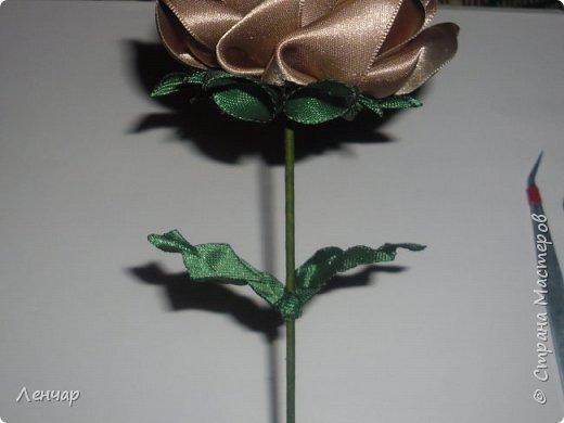 Добрый день, Страна. Выкладываю на ваш суд МК такой розы. Сама я такую розу первый раз увидела у Олеси Иноземцевой в Одноклассниках ( только у неё была просто заколка, не на ножке). фото 51