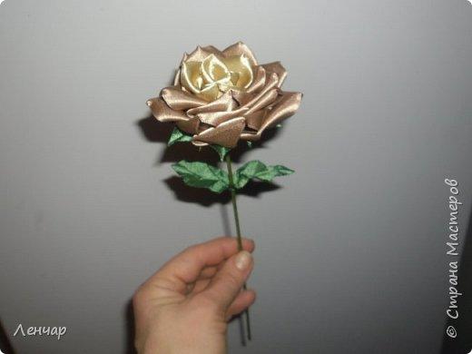 Добрый день, Страна. Выкладываю на ваш суд МК такой розы. Сама я такую розу первый раз увидела у Олеси Иноземцевой в Одноклассниках ( только у неё была просто заколка, не на ножке). фото 54