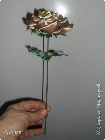 Добрый день, Страна. Выкладываю на ваш суд МК такой розы. Сама я такую розу первый раз увидела у Олеси Иноземцевой в Одноклассниках ( только у неё была просто заколка, не на ножке). фото 53