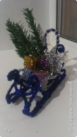 Решила сделать сани к нашему Дедушке Морозу под ёлку, вот что вышло) фото 21