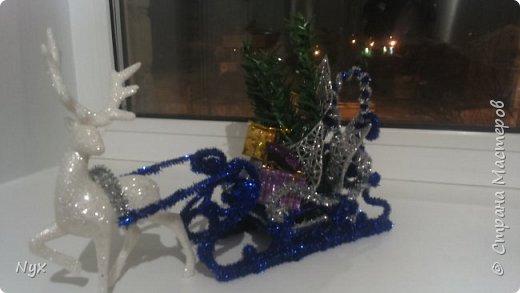 Решила сделать сани к нашему Дедушке Морозу под ёлку, вот что вышло) фото 1