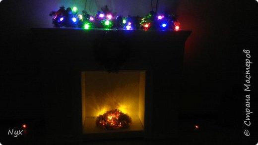 Всем привет) На Рождество тоже решила сделать в нашу квартирку фальш камин! Сделать то сделала, а выложить все никак руки не доходят! Наконец дошли) Жду критики) фото 6