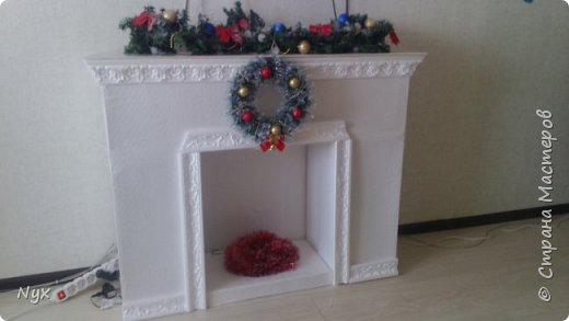Всем привет) На Рождество тоже решила сделать в нашу квартирку фальш камин! Сделать то сделала, а выложить все никак руки не доходят! Наконец дошли) Жду критики) фото 5