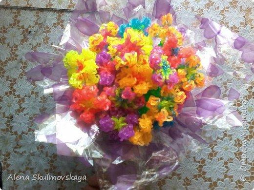 букет цветов из резинок фото 1