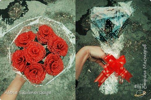 букет роз из бисера)
