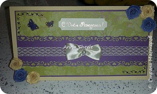 Корзинка с розами и открытка для мамы фото 4