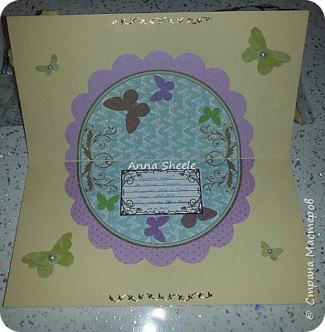 Корзинка с розами и открытка для мамы фото 5