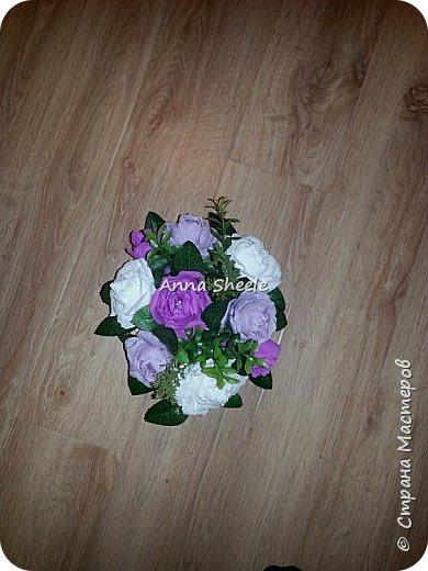 Корзинка с розами и открытка для мамы фото 3