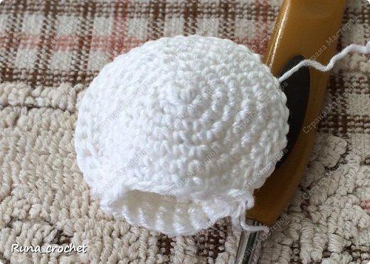 Для вязания Вам потребуется пряжа Сосо VitaCotton белого цвета, крючок 1,5 и пряжа для отделки.  фото 4