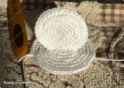 Для вязания Вам потребуется пряжа Сосо VitaCotton белого цвета, крючок 1,5 и пряжа для отделки.  фото 5