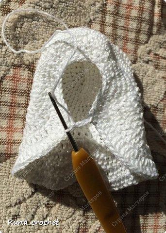 Для вязания Вам потребуется пряжа Сосо VitaCotton белого цвета, крючок 1,5 и пряжа для отделки.  фото 10