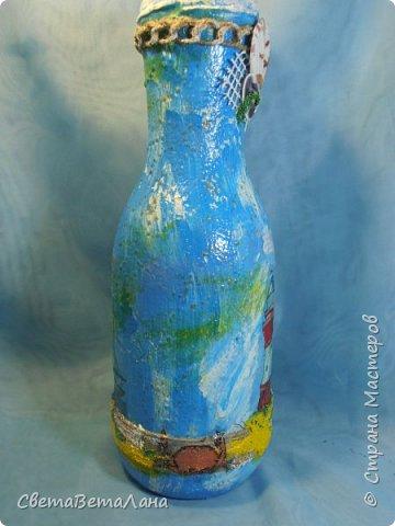 "..... не утерпела "" наваяла"" ещё и такую морскую вазочку - бутылочку....... фото 12"