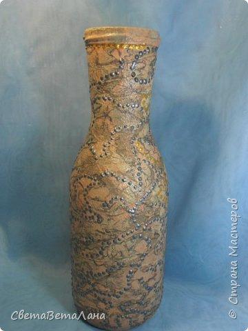 "..... не утерпела "" наваяла"" ещё и такую морскую вазочку - бутылочку....... фото 3"