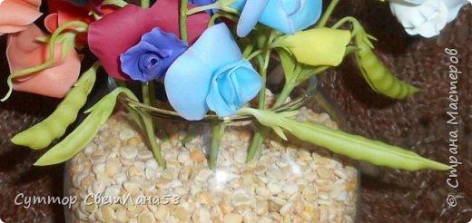 Цветок душистого горошка из холодного фарфора без вырубок (катеров), поэтапный мастер- класс  фото 22