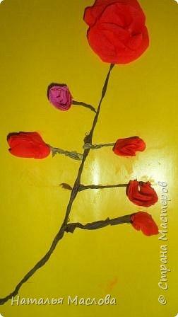Работы четвероклассников. Открытки-сердечки к 8 марта. Цветы выполнены по идеи Татьяны Просняковой. В её блоге подробный мастер класс. фото 9