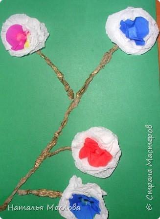 Работы четвероклассников. Открытки-сердечки к 8 марта. Цветы выполнены по идеи Татьяны Просняковой. В её блоге подробный мастер класс. фото 11