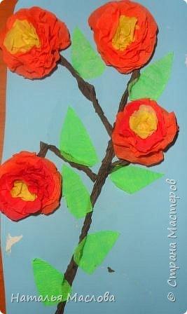 Работы четвероклассников. Открытки-сердечки к 8 марта. Цветы выполнены по идеи Татьяны Просняковой. В её блоге подробный мастер класс. фото 12