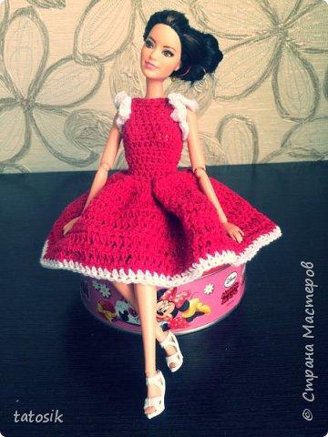Платье крючком для моих Barbie фото 12