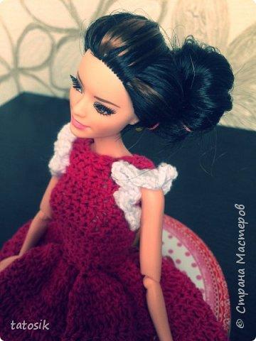 Платье крючком для моих Barbie фото 13