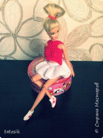Платье крючком для моих Barbie фото 14
