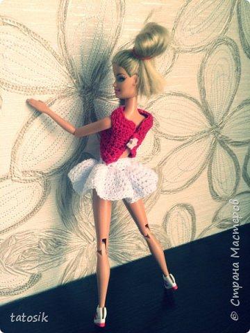 Платье крючком для моих Barbie фото 15