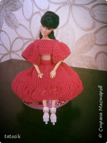 Платье крючком для моих Barbie фото 4