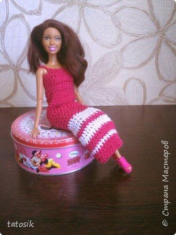 Платье крючком для моих Barbie фото 5