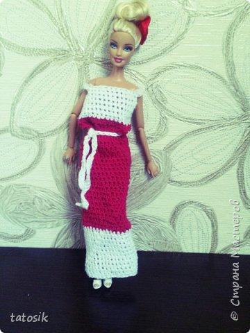 Платье крючком для моих Barbie фото 8
